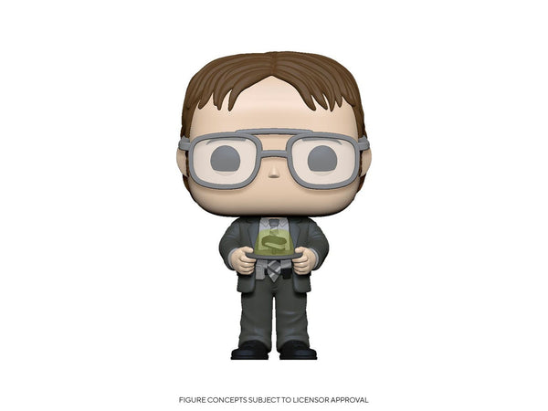 [Preorder] Office: Dwight w/ Jello Stapler Pop Figure - [barcode] - Dragons Trading