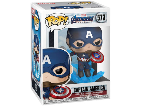 Avengers Endgame: Captain America w/ Broken Shield & Mjolnir Pop
