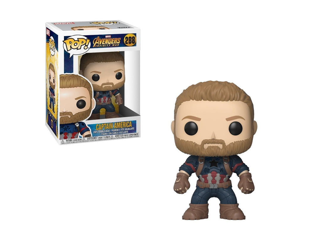 Funko Pop Marvel: Avengers Infinity War-Captain America Collectible Figure - [barcode] - Dragons Trading
