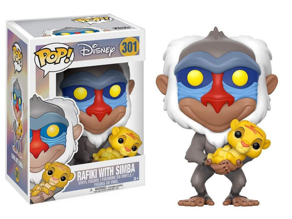 Funko Pop Disney Lion King-Rafiki with Simba Toy - [barcode] - Dragons Trading