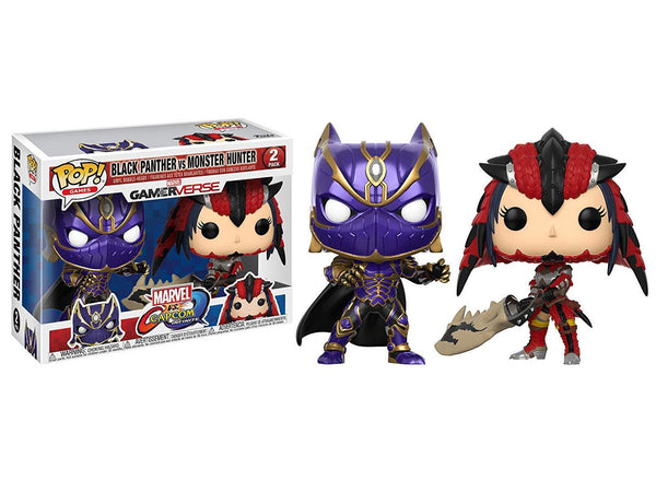 Funko Pop! Games: Marvel Vs Capcom - Black Panther vs Monster Hunter Collectible Figure