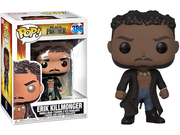 Funko POP! Black Panther Movie- Erick Killmonger w/ Scars Pop - [barcode] - Dragons Trading