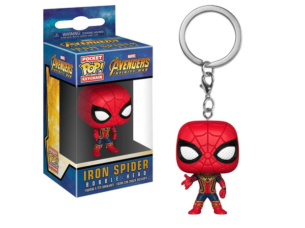 Funko POP! Keychain Marvel: Avengers Infinity War - Iron Spider - [barcode] - Dragons Trading
