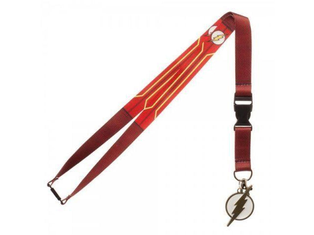 DC Comics Flash Suit Up Lanyard ID Badge Holder & Charm - [barcode] - Dragons Trading