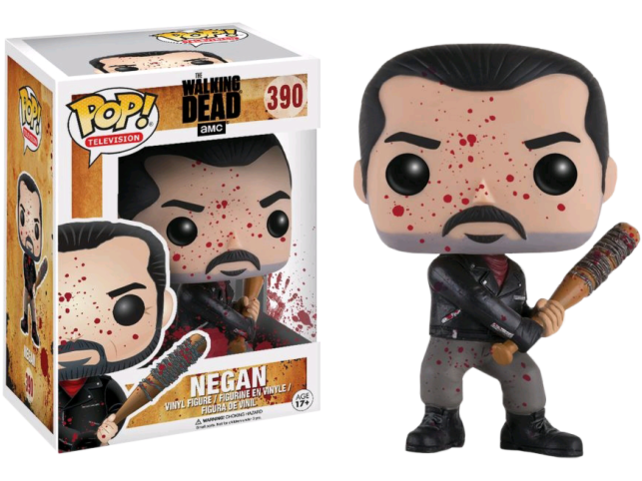 Funko Pop Vinyl 390 The Walking Dead Bloody Negan Exclusive (B&N) - [barcode] - Dragons Trading