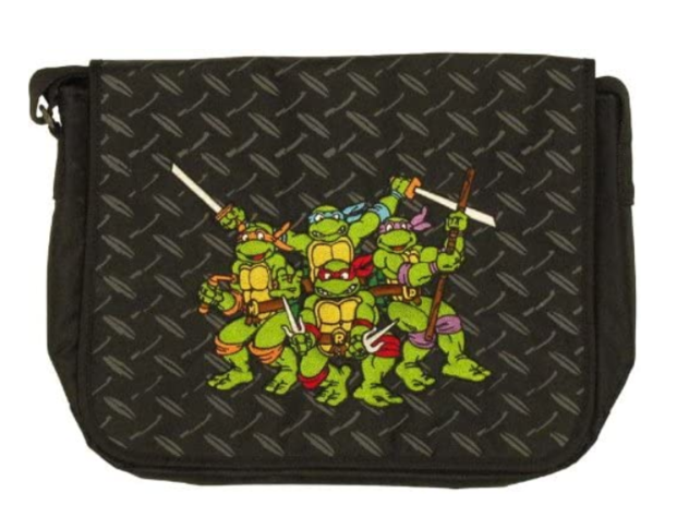 TMNT Teenage Mutant Ninja Turtles Messenger Laptop School Bag