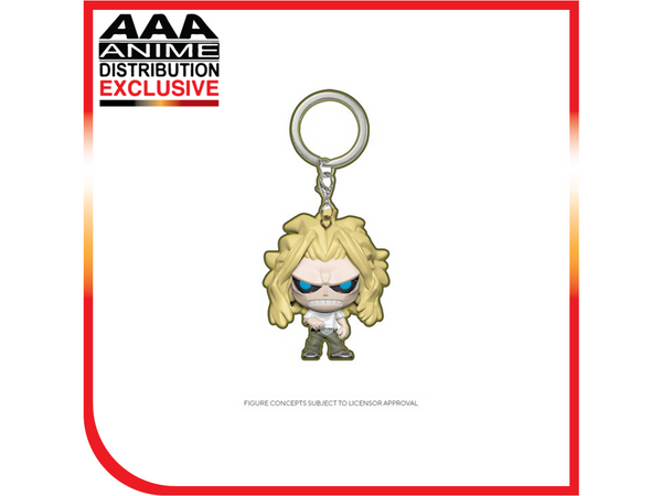 My Hero Academia All Might Weakened Glow-in-the-Dark Pocket Pop! Vinyl Figure - AAA Anime Exclusive - [barcode] - Dragons Trading