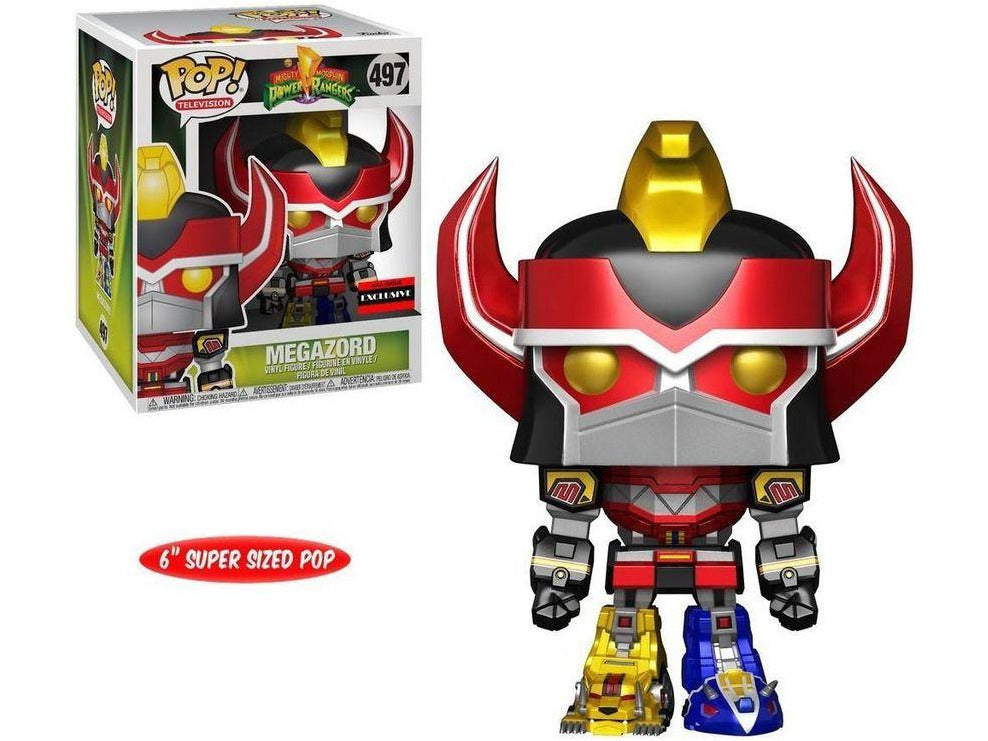 Power Rangers Funko POP! TV Megazord Exclusive 6-Inch Vinyl Figure Metallic Version - [barcode] - Dragons Trading