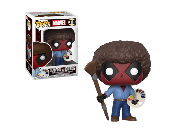 Funko POP! Marvel: Deadpool Playtime- Bob Ross - [barcode] - Dragons Trading