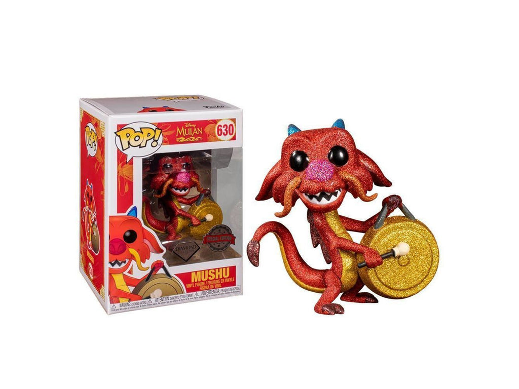 [Pre-Order] Disney: Mulan - Mushu w/ Gong (Diamond) (Special Edition) Pop - [barcode] - Dragons Trading