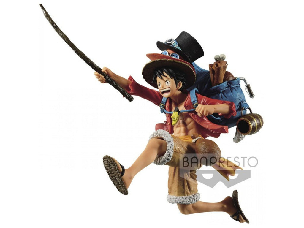 One Piece Three Brothers Monkey.D.Luffy Figure - [barcode] - Dragons Trading