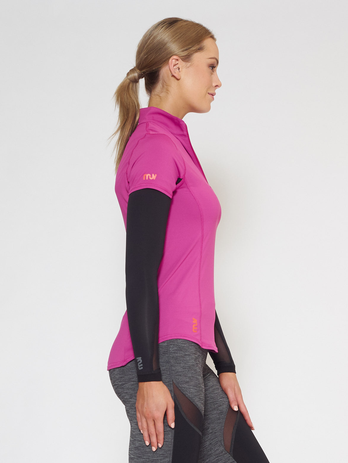 MUV Sportswear_FLARE MUV Tube Sleeve with Mesh_Colour Black_UV Protecting Sportswear