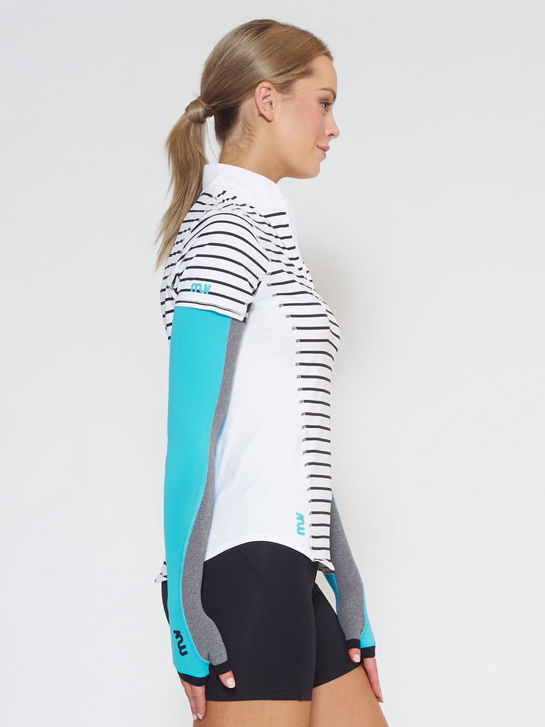 MUV Sportswear_SCORCH Full-Arm GLUV_Colour Scuba Blue_UV Protecting Sportswear