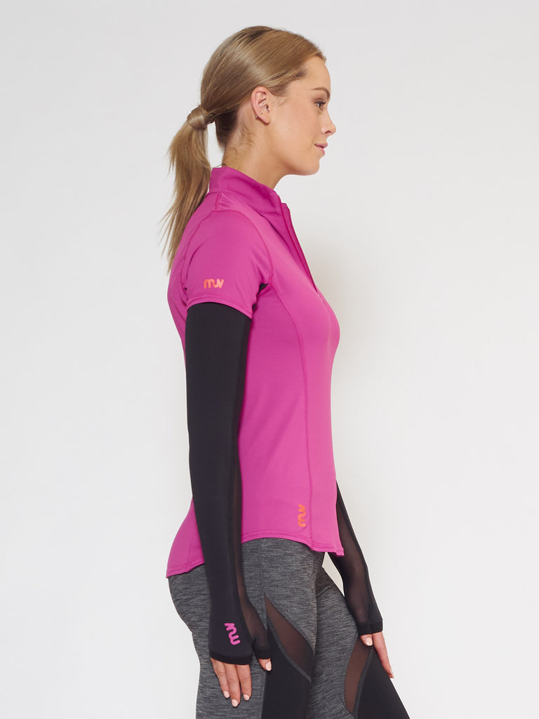 MUV Sportswear_SCORCH Full-Arm GLUV with Mesh_Colour Black_UV Protecting Sportswear