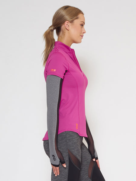 MUV Sportswear_SCORCH Full-Arm GLUV with Mesh_Colour Steel_UV Protecting Sportswear