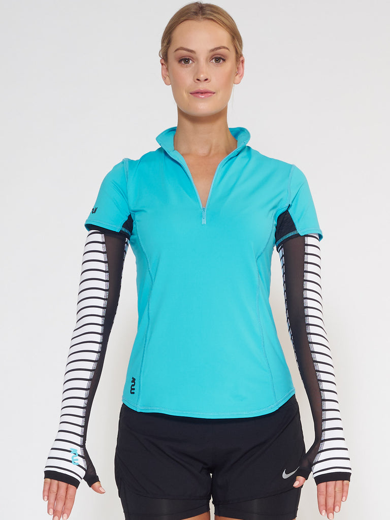 MUV Sportswear_SCORCH Full-Arm GLUV with Mesh_Colour Stripe_UV Protecting Sportswear