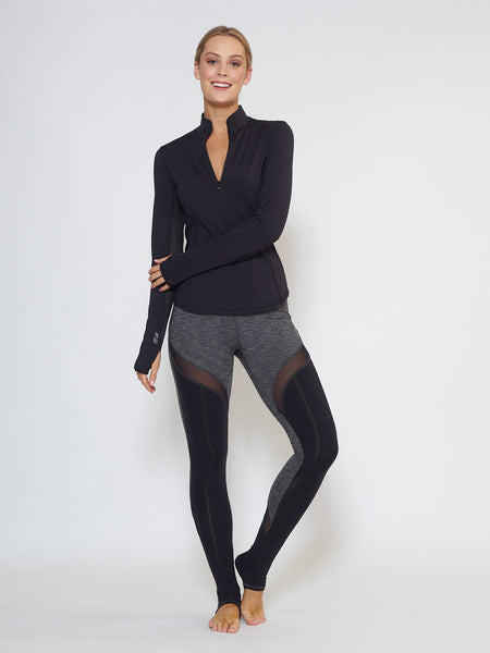 MUV Sportswear_GALE Full-Length Legging_Colour Steel_UV Protecting Sportswear