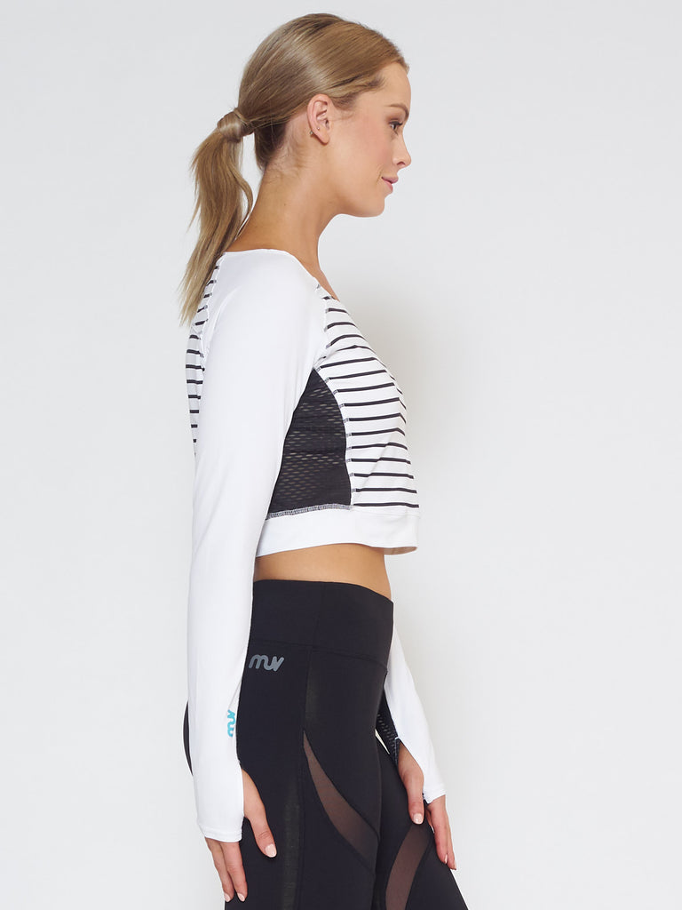 MUV Sportswear_VENT Long-Sleeve Crop_Colour Stripe_UV Protecting Sportswear