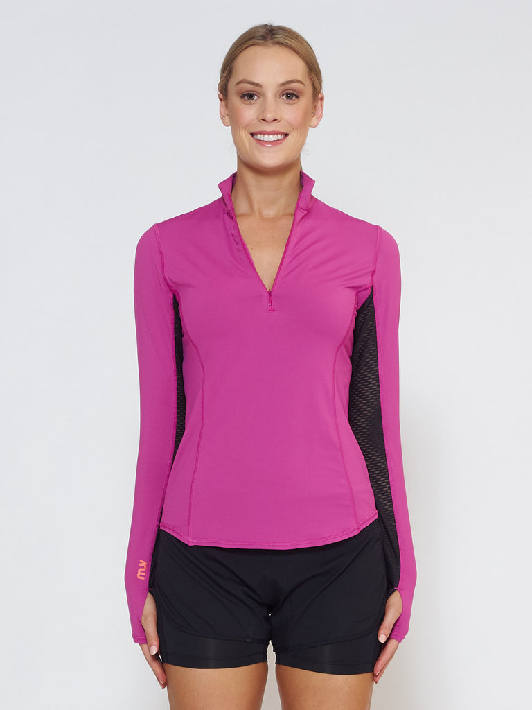 MUV Sportswear_LIQUID Long-Sleeve Collared Shirt_Colour Wild Purple_UV Protecting Sportswear