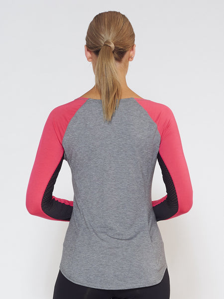 MUV Sportswear_DRIFT Long-Sleeve Top_Colour Azalea_UV Protecting Sportswear