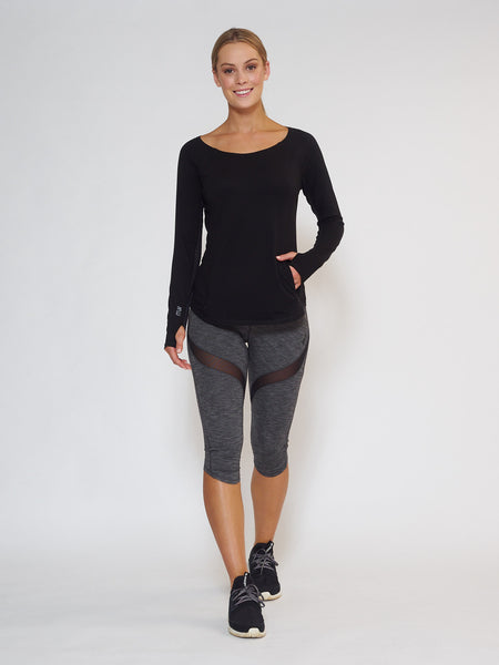 MUV Sportswear_DRIFT Long-Sleeve Top_Colour Black_UV Protecting Sportswear