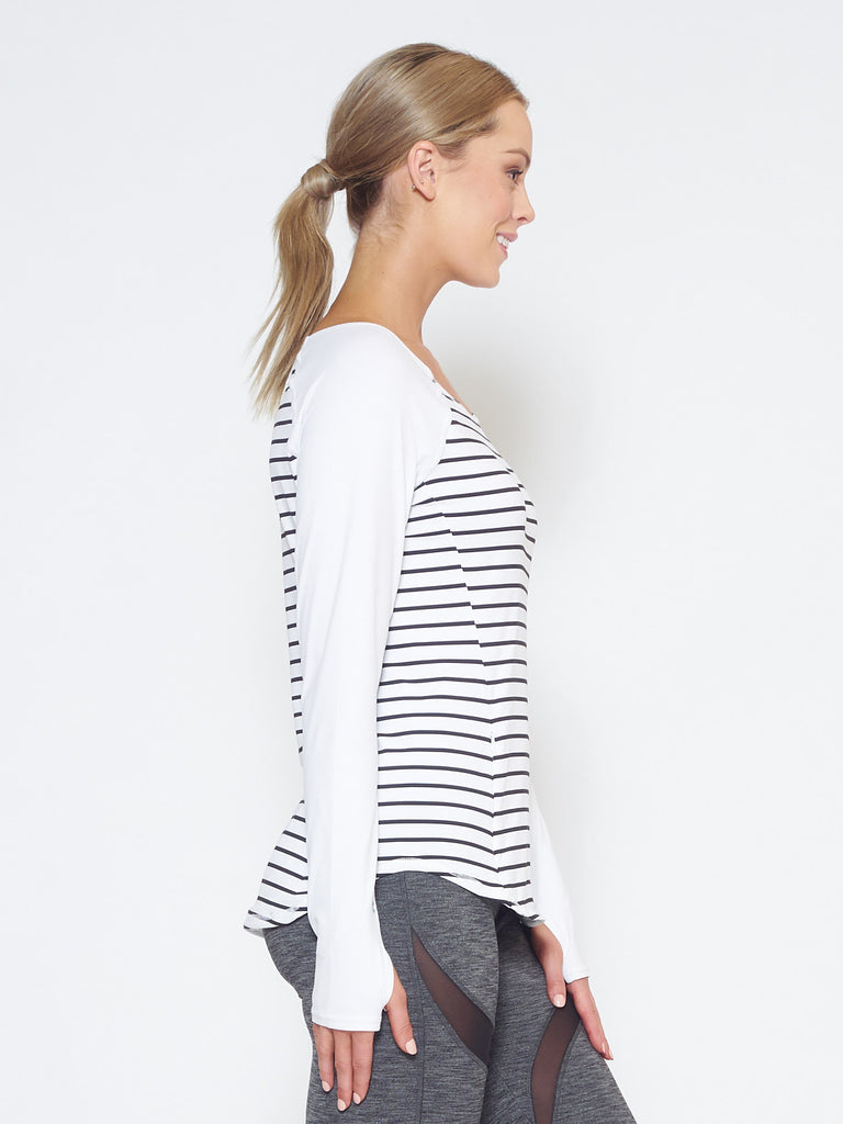 MUV Sportswear_DRIFT Long-Sleeve Top_Colour Stripe_UV Protecting Sportswear