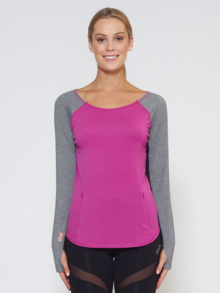 MUV Sportswear_DRIFT Long-Sleeve Top_Colour Wild Purple_UV Protecting Sportswear