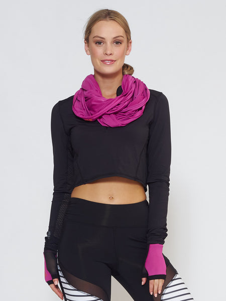 MUV Sportswear_ECLIPSE Sun Hood/Scarf_Colour Wild Purple_UV Protecting Sportswear