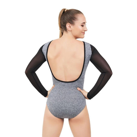 Dance Active Front Keyhole Long Sleeve Leotard Child