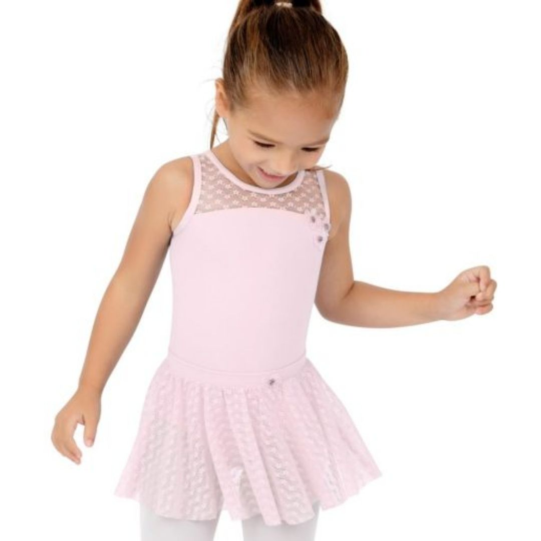 Sweet Pea Mesh Yoke Tank Leotard Child