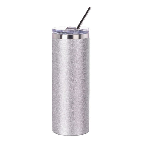 Glitter Skinny Tumbler With Straw