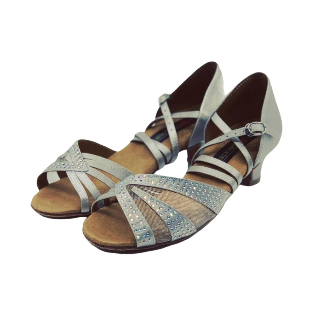 S211 Ladies Low Heel Open Toe Dance Sandal