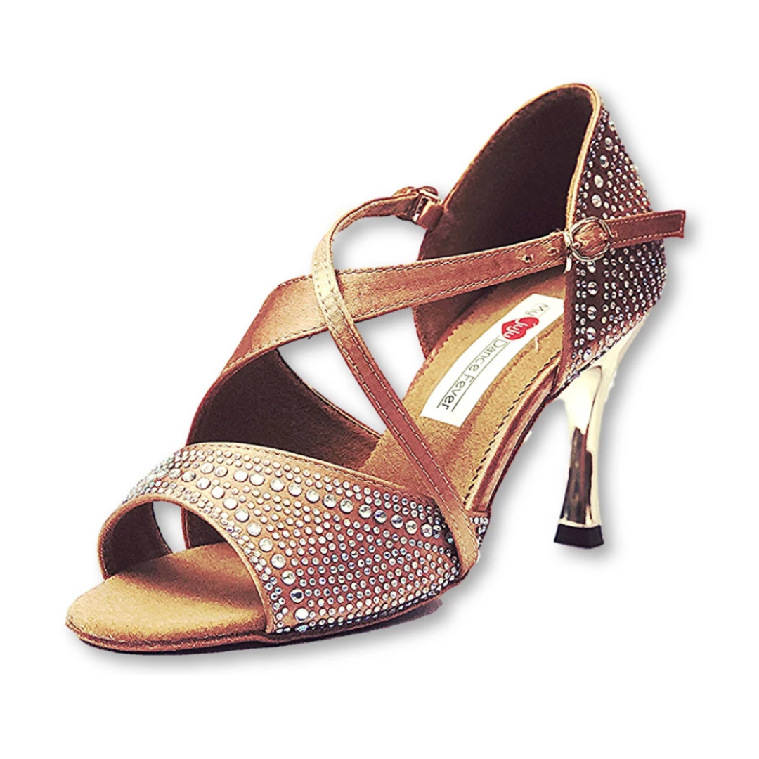 S7172 Ladies Latin High Performance Dance Sandal Gem Stone