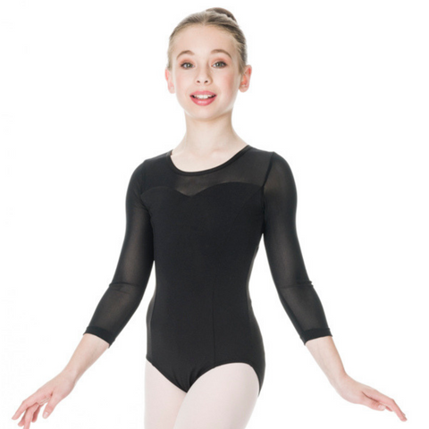 Michaela 3/4 Sleeve Leotard Child