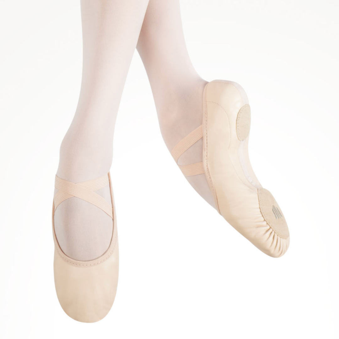 Elemental Leather Hybrid Sole Ballet Shoe