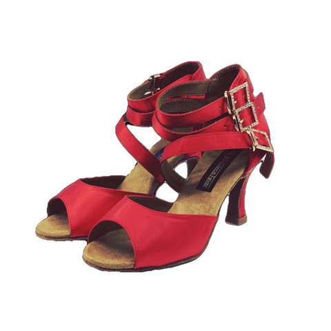S248 Ladies Red Hot Open Toe Latin Dance Sandal