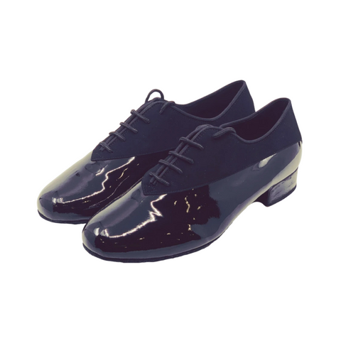 7814 Gentlemens Elite Patent Leather & Suede Dance Shoe