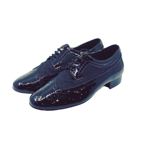7816BG Gentlemens Patent Leather Lace Up Rock & Roll Dance Shoe