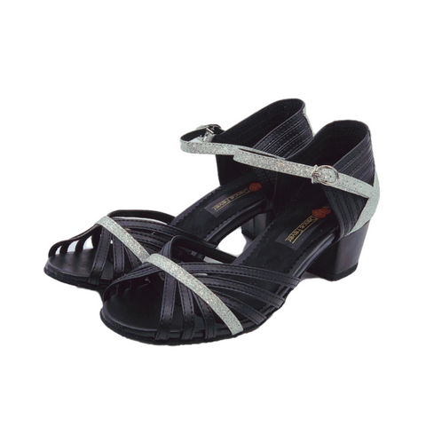 S223D Ladies Open Toe Dance Sandal Glitter