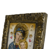 "12"" Godmother Mary with Jesus Christ Baby Religious Icon"