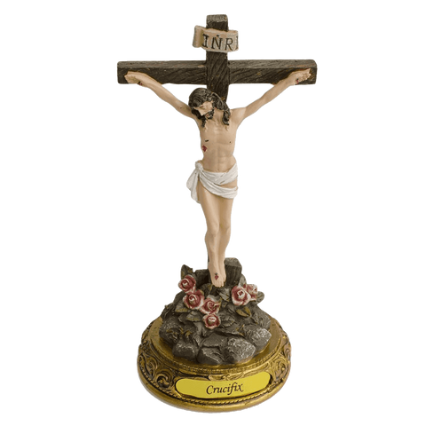 "8"" Jesus Christ on the Standing Cross - Catholic Crucifix Religious Figurine"
