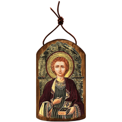 Icon Ornament Handcrafted in Wood