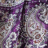 Purple and Black Paisley Harem Trouseres. One Size!