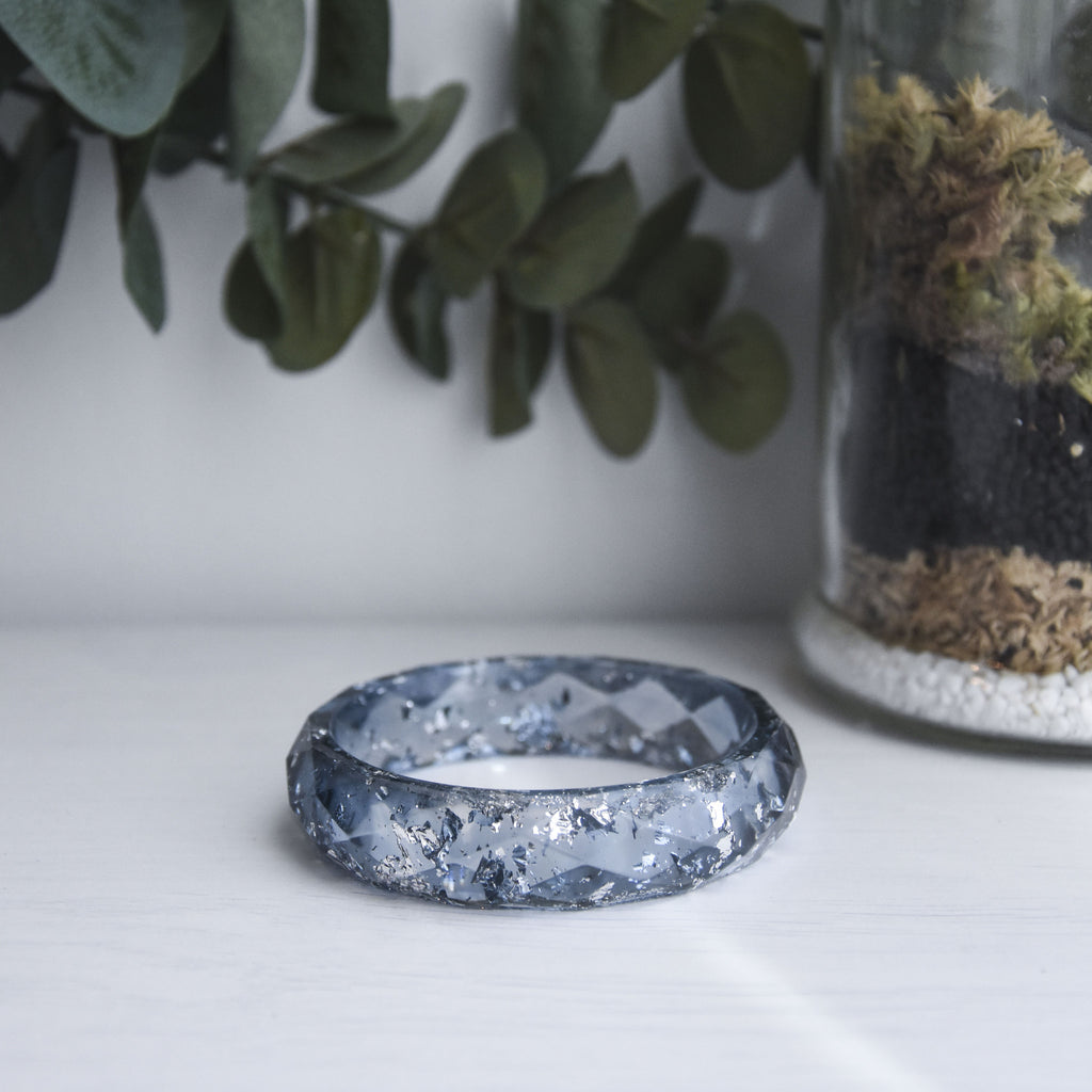 Charlotte Faceted Bangle - Granite