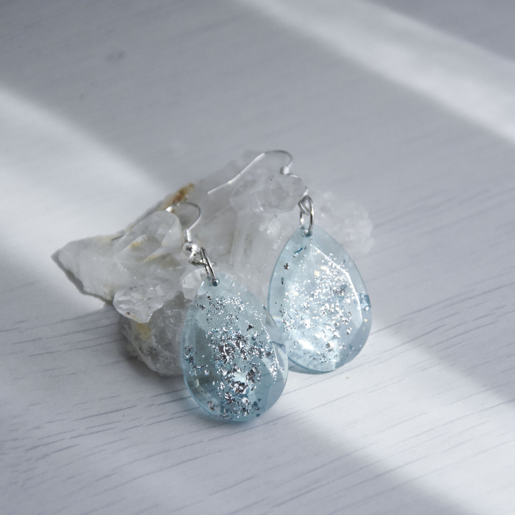 Arianna Teardrop Faceted Earrings - Astral