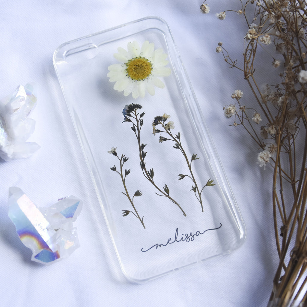 Forget Me Daisy Name Phone Case (Pre-Order)