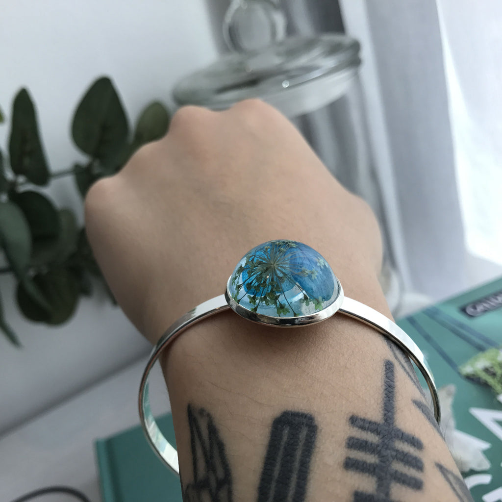 Emma Bangle - Blue Floral 1