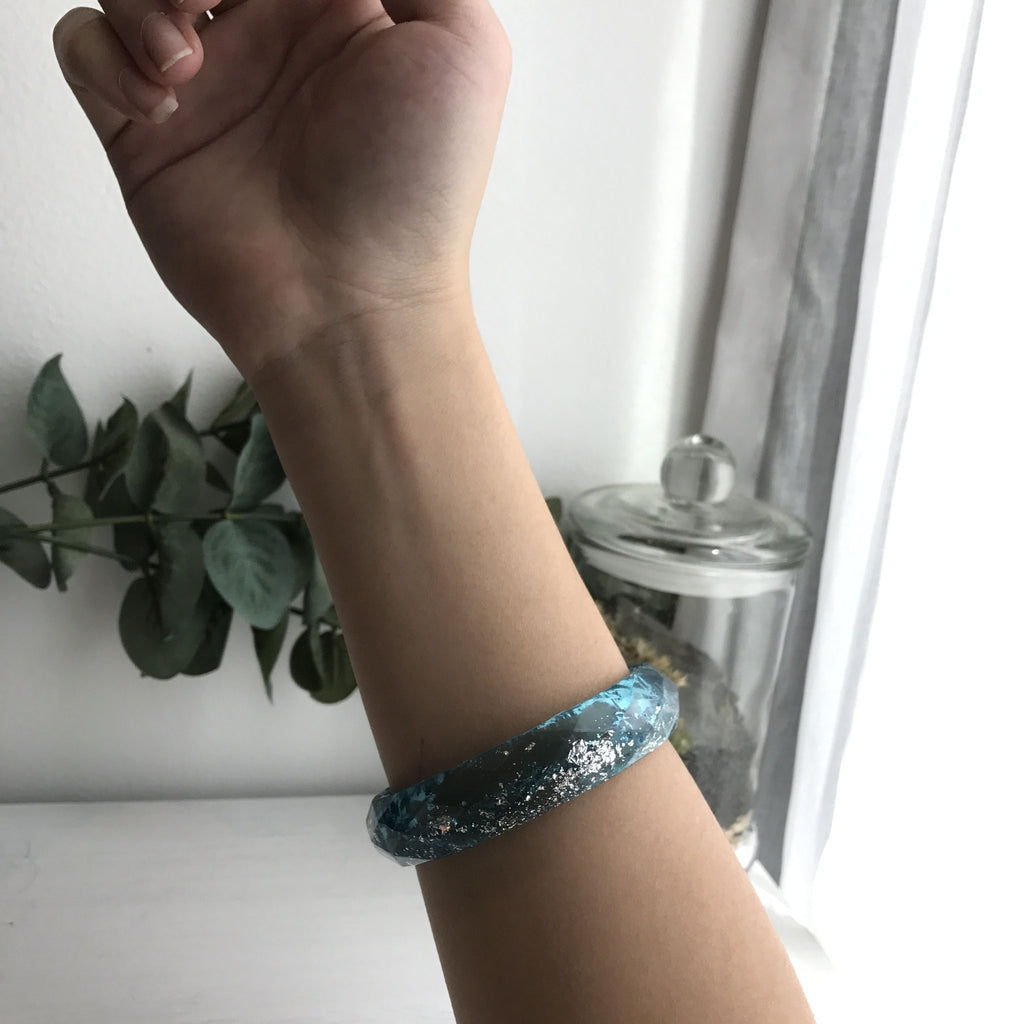 Charlotte Faceted Bangle - Astral