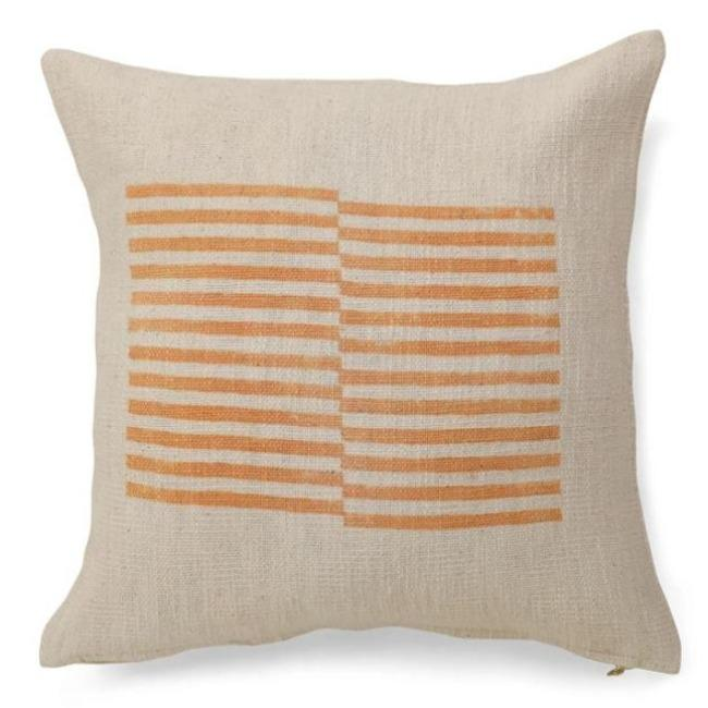 Celestial Gold Stripe Pillow - Pink Pig