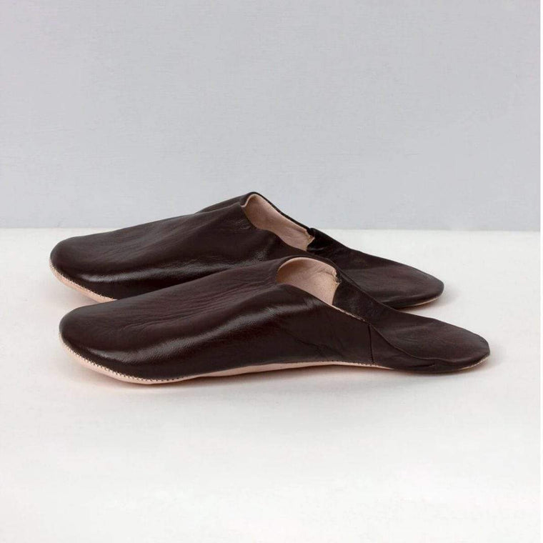 Mens Moroccan Brown Slippers